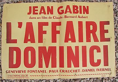 Ancienne Affiche Cinema L'affaire Dominici Jean Gabin