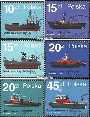 Poland 3184-3189 (complete issue) unmounted mint / never hinged 1988 Fireboats