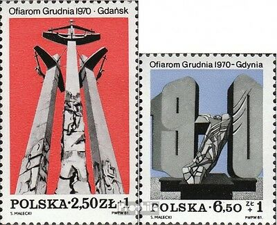 Poland 2782-2783 (complete issue) unmounted mint / never hinged 1981 Monuments