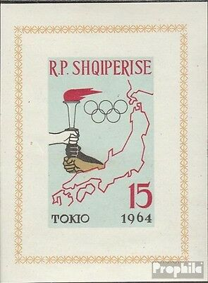 Albania block 19b (complete issue) unmounted mint / never hinged 1963 olympic. S