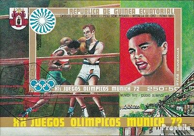 Equatorial-Guinea block14 (complete issue) used 1972 Olympics S