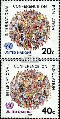 UN-New York 440-441 (complete issue) unmounted mint / never hinged 1984 populati