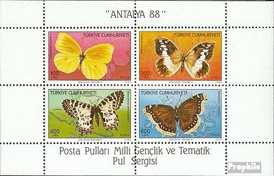 Turkey Block 26 (complete issue) unmounted mint / never hinged 1988 Butterflies