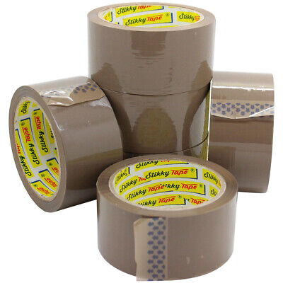 144 Rolls Buff Brown EXTRA STRONG Parcel Carton Tape Packing Packaging 48 x 66m