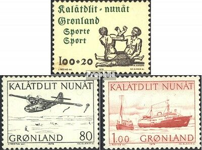 Denmark-Greenland 97,98-99 (complete issue) used 1976 special s
