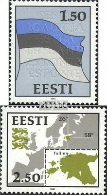 Estonia 174-175 (complete issue) unmounted mint / never hinged 1991 Symbols
