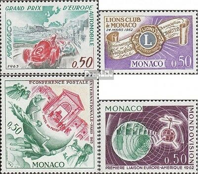 Monaco 728,729,730,731 (complete issue) unmounted mint / never hinged 1963 speci