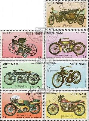 Vietnam 1572-1578 (complete issue) used 1985 100 years Motorcyc