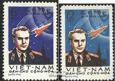 Vietnam 181-182 (complete issue) used 1961 2. Space flight thro
