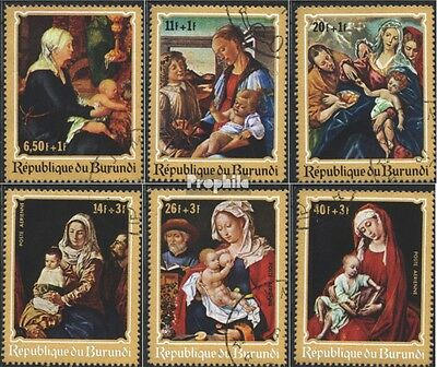 Burundi 679A-684A (complete issue) used 1970 christmas: Paintin
