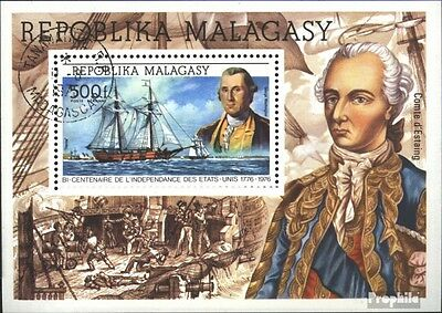 Madagascar block7 (complete issue) used 1975 200 years Independ