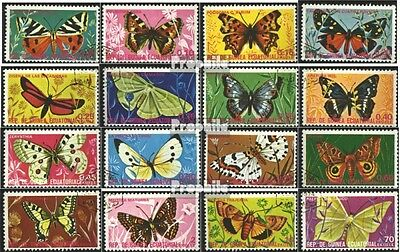 Equatorial-Guinea 736-751 (complete issue) used 1975 Butterflie