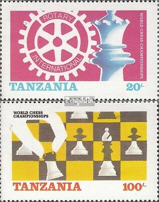 Tanzania 313-314 (complete issue) unmounted mint / never hinged 1986 Chess-WM