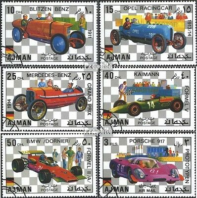 Ajman 1117-1122 (complete issue) used 1971 Racecar