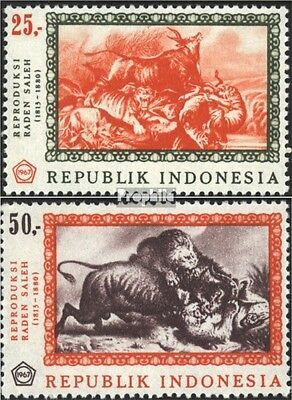 Indonesia 590-591 (complete issue) unmounted mint / never hinged 1967 Paintings