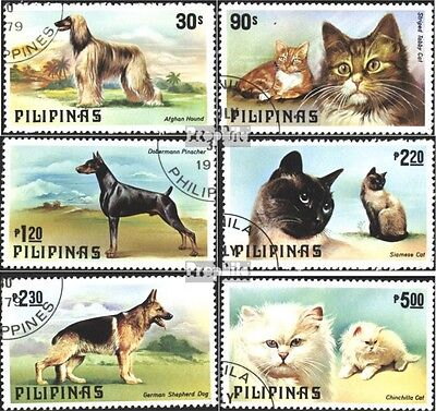 Philippines 1306-1311 (complete issue) used 1979 Dogs and Cats
