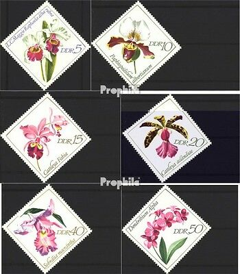 DDR 1420-1425 (complete.issue) unmounted mint / never hinged 1968 Orchids