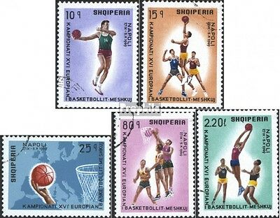Albania 1368-1372 (complete issue) used 1969 Basketball-Champio