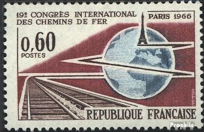 France 1550 (complete issue) unmounted mint / never hinged 1966 Railway-congress