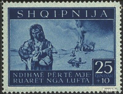 Albania (German.cast.2.world.) 18 unmounted mint / never hinged 1944 bomb victim