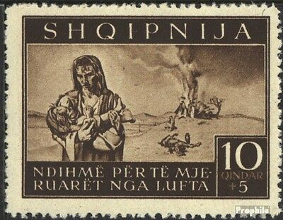 Albania (German.cast.2.world.) 16 unmounted mint / never hinged 1944 bomb victim