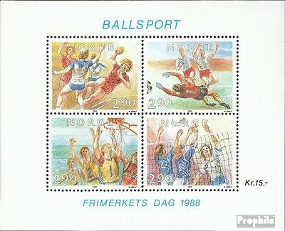 Norway block10 (complete issue) unmounted mint / never hinged 1988 ball sports