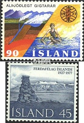 Iceland 526,527 (complete issue) used 1977 special stamps
