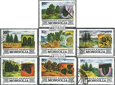 Mongolia 1489-1495 (complete issue) used 1982 Flora the Mongoli