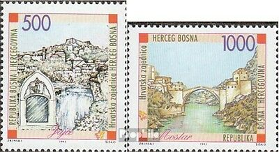 Bosnia - croatian. Post mostar 2-3 (complete issue) unmounted mint / never hinge