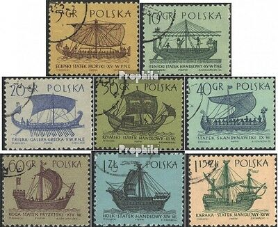Poland 1383-1390 (complete issue) used 1963 Sailboats