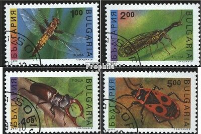 Bulgaria 4093-4096 (complete issue) used 1993 Insects