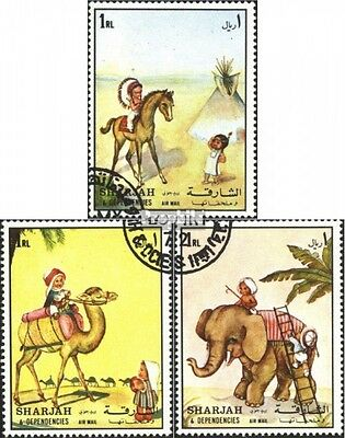 Sharjah 1224-1227 (complete issue) used 1972 Children different
