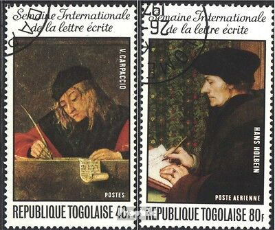 Togo 1122A-1123A (complete issue) used 1975 Boarding. Letters w