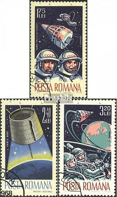 Romania 2427-2429 (complete issue) used 1965 World Space