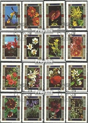 Umm al Qaiwain 1034A-1049A (complete issue) used 1972 Flowers