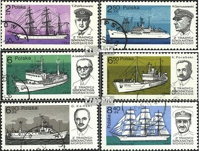 Poland 2699-2704 (complete.issue) used 1980 Training ships
