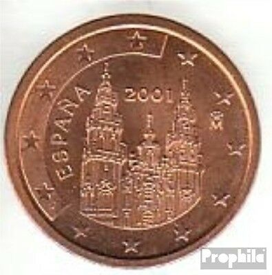 Spain Article: e 2 2001 brillant uncirculated (BU) 2001 Kursmünze 2 cent