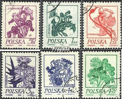 Poland 2296-2301 (complete issue) used 1974 Flower Painting of