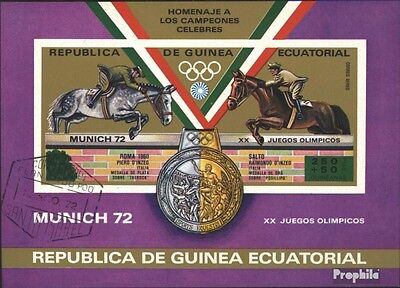 Equatorial-Guinea block20 (complete issue) used 1972 Olympics S