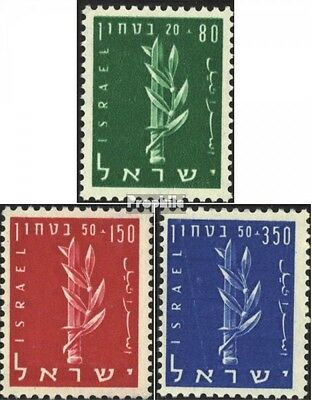 Israel 140-142 (complete issue) unmounted mint / never hinged 1957 sicherheitsfo
