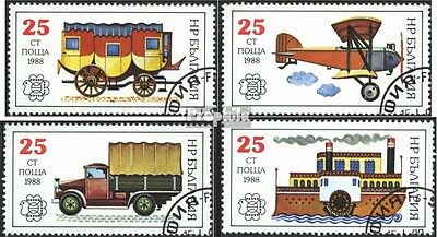 Bulgaria 3724A-3727A (complete issue) used 1988 History of post