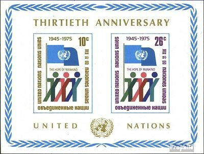 UN-New York block6 (complete issue) unmounted mint / never hinged 1975 30 years