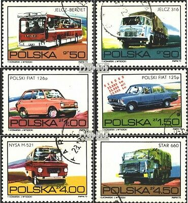 Poland 2290-2295 (complete issue) used 1973 Motors