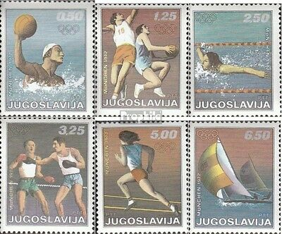 Yugoslavia 1451-1456 (complete issue) unmounted mint / never hinged 1972 Olympic