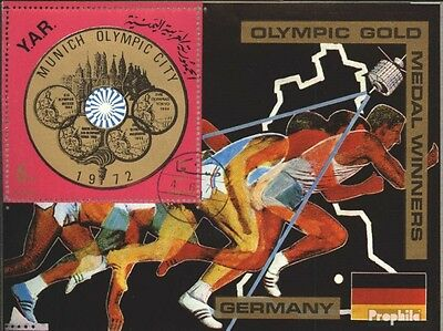 North Yemen Block149 (complete issue) used 1970 German Olympic