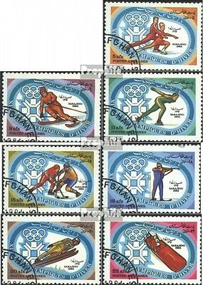 Afghanistan 1319-1325 (complete issue) used 1984 Winter Olympic