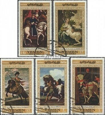 North Yemen 751-755 (complete issue) used 1968 known Paintings