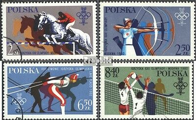 Poland 2674-2677 (complete issue) used 1980 Olympics Games 1980