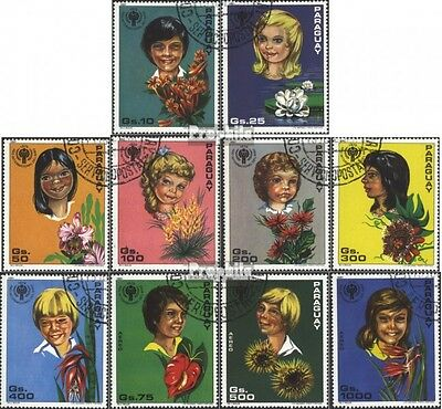 Paraguay 3373-3382 (complete issue) used 1981 Boarding. Year of