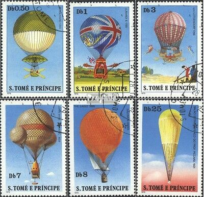 Sao Tome e Principe 619-624 (complete issue) used 1979 Balloons
